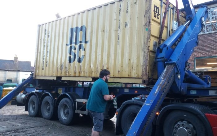 lorry loading container